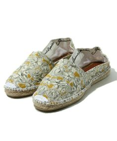 Basic espadrille on canvas with original stamping Liberty London.  gaimo   espadrilles  summershoes 1156cb4565