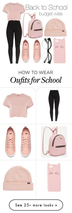 """Back to School: Budget Wise"" by azazelacain on Polyvore featuring Topshop, Charlotte Russe and Vans"