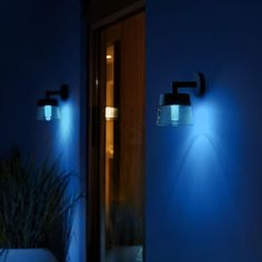 Philips Hue White and Color Ambiance LED-Wandleuchte Attract schwarz Philips Hue, Modern House Design, Light Decorations, Outdoor Lighting, Lighting Design, Wall Lights, Blue, Color, Inspiration