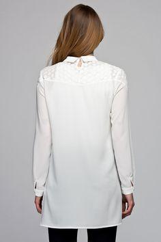 Dantel Detaylı Beyaz Tunik VAVSS1600018 Vavist | Trendyol