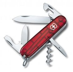 Victorinox Spartan pocket knife, 12 functions, blade, corkscrew, can opener Swiss Army Pocket Knife, Best Pocket Knife, Pocket Knives, Victorinox Swiss Army Knife, Ideal Tools, Design Graphique, Knives And Tools, Can Opener, Bottle Opener