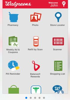 App home page.