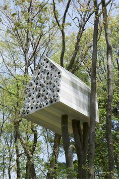 Bird Apartment - Komoro City, Japan - 2012 - Nendo #treehouse #nest #house #nendo #nature #landscape #birds
