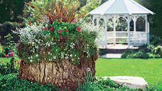 How Make a Stump Attractive by Using Tree Stump Ideas? : Ideas For Tree Stump In Garden. Ideas for tree stump in garden. Easy Garden, Lawn And Garden, Garden Art, Garden Design, Tree Garden, Fairies Garden, Tree Stump Decor, Tree Stump Planter, Tree Stumps