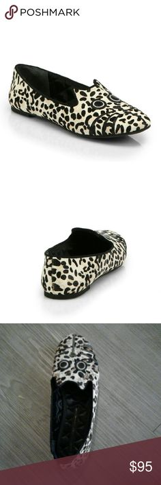 Marc by Marc Jacobs smoking slipper Pony hair Marc by Marc Jacobs flat slippers featuring leather eyes and whiskers and an all over spot print.  100% pony hair Marc by Marc Jacobs Shoes Flats & Loafers