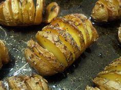 Patatas Hasselback.
