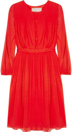 Adele Crinkled Silkchiffon Dress