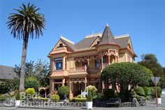 """The Gingerbread Mansion in Ferndale, CA.  I've stayed in three different rooms here during its """"bed and breakfast"""" days while up there for the Avenue of the Giants Half Marathon.  I love this building, the rooms inside it, the city it sits in.  I would definitely live there."""