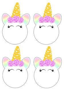 19 Ideas decorativas y souvenirs con moldes para tu fiesta de unicornios Unicorn Themed Birthday Party, Rainbow Birthday, Unicorn Birthday Parties, Diy Birthday, Birthday Party Decorations, Unicorn Printables, Unicorn Invitations, Festa Party, Rainbow Unicorn