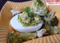 oeuf mimosa au vert et brocolis cuit-cru