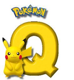 Abecedario de Pikachu de Pokémon. Pikachu Alphabet. Brother Birthday, Boy Birthday, Happy Birthday, Pikachu Drawing, Pokemon Birthday, Topper, Charizard, Letters And Numbers, Totoro