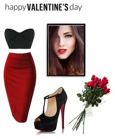 """""""Valentine's day outfit #2"""" by nindza-p0m0randza ❤ liked on Polyvore featuring Osklen, Christian Louboutin, Bomedo, Hanky Panky, women's clothing, women, female, woman, misses and juniors"""