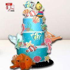 Nemo Diaper Cake Template