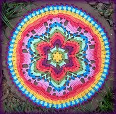 Starflower Mandala- would be pretty as a pillow cover too!