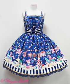 Angelic Pretty - Fantasy Theater JSK /// ¥27,090 /// Bust: 89~110 cm Waist: 72~94 cm Length: 85 cm + 3 cm lace