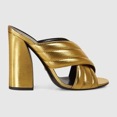 1fd7153eff0 Shop for Metallic crossover sandal by Gucci at ShopStyle.