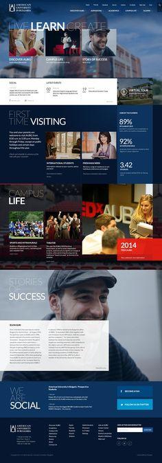 American University in Bulgaria #webdesign #school