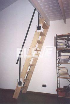 Escaleras plegables de altillo en chapa de acero y madera - Escaleras para buhardillas plegables ...