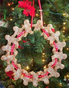 Gingerbread Man Wreath Ornament
