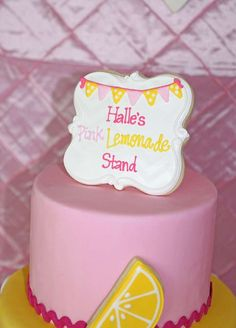 Halle's Pink Lemonade Party | CatchMyParty.com