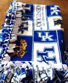 University of Kentucky Tie Blanket by CarnedasCreations on Etsy, $65.00