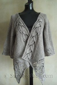 Nice cardigan--top down knit