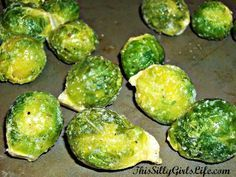 How To: Oven Roasted Brussel Sprouts using frozen brussel sprouts!