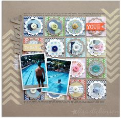 Layout by Lisa Dickinson using Lily Bee Design sketch by Maisa Mendonca  #scrapbook #lilybee #lilybeedesign #sketch