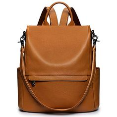 Leather Backpack, Convertible, Backpacks, Shoulder Bag, Handbags, Purses, Lady, Womens Fashion, Leather Book Bag