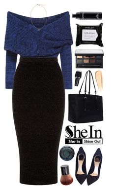 """SHEIN ft. Blue Crop Sweater"" by yen-and-len ❤ liked on Polyvore featuring Warehouse, Christian Dior, NARS Cosmetics, OPI, MAC Cosmetics, Hourglass Cosmetics, Deborah Lippmann and Rebecca Minkoff"