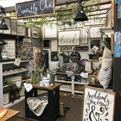 Restocked our space If you're nearby, stop by and see what's new! Vintage Booth Display, Antique Booth Displays, Antique Mall Booth, Antique Booth Ideas, Vendor Displays, Craft Booth Displays, Booth Decor, Vendor Booth, Display Ideas