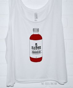5Sauce Tank Top | Hand Screened 5 Seconds of Summer Hot Sauce Crop Tank on Etsy, $23.00