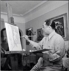 Duke Ellington expressing himself with a brush