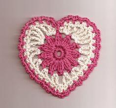 Gehaakt hartje ... Coracaozinho de crochet :: ElsaRblog