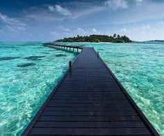 A walk of a lifetime, some day...Bora Bora, French Polynesia