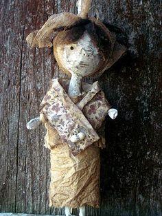 Rustic Prim Art Doll.Miss Emmie  Handmade by MysticHillsNgaroma