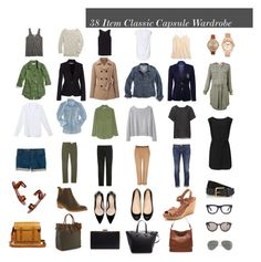 """""""38 Item Classic Capsule Wardrobe"""" by designismymuse ❤ liked on Polyvore featuring Equipment, French Connection, Aéropostale, Polo Ralph Lauren, Madewell, Uniqlo, Ralph Lauren, Wood Wood, Zara and Office"""