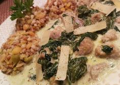 hallal Camembert Cheese, Risotto, Chicken, Ethnic Recipes, Food, Essen, Meals, Yemek, Eten