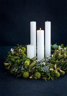 bob_181170_041 Christmas Advent Wreath, Christmas Mood, Simple Christmas, Advent Wreaths, Natural Christmas, Burlap Christmas, Primitive Christmas, Country Christmas, Christmas Snowman