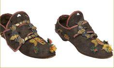 Zapatos de traje de vistas de La Alberca. 1820.