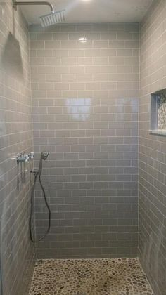 Ceramic Tile Color Collection Bright Tender Gray 6 In. / Case) At The Home  Depot   Mobile Perfect Bathroom Of My Dreams