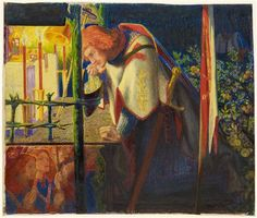 Sir Galahad at the ruined Chapel  By Dante Gabriel Rossetti, 1857 – 1859