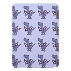 T-Rex Dinosaur with Hula Hoop Baby Blanket #dinosaurs #baby #blankets #funny #hulahoops And www.zazzle.com/inspirationrocks*