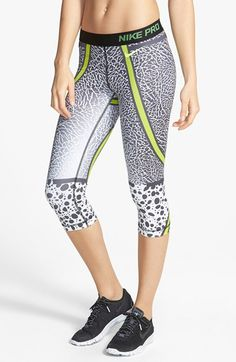 Nike 'Pro - Core Safari' Dri-FIT Capris available at Nike Wear, Gym Wear, Sporty Outfits, Nike Outfits, All Nike Shoes, Nike Leggings, Nike Pros, Athletic Wear, Safari