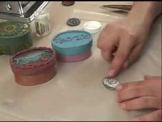 Embossing Powder + Polymer clay demonstration (video)