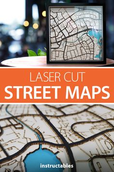 Create laser cut street maps for personalized wall art. #Instructables #decor #lasercut #workshop #woodworking Wood Projects, Projects To Try, Snipping Tool, Electronics Basics, Diy Tech, 3d Cnc, Architecture Models, Engineering Projects, Manualidades