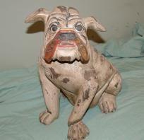 Carved Bulldog or Pug from Bali