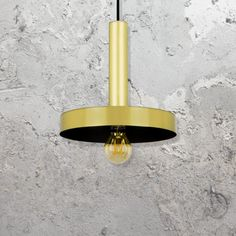 modern gold pendant with a black inner finish