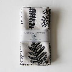 Amelie Mancini: Brooklyn-based French artist Fern napkin