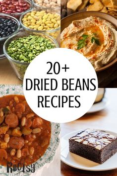 Stocking your pantry with dried beans is good preparedness. Beans are a great source of protein and versatile, as you will see in these dried bean recipes. Whole Food Recipes, Dinner Recipes, Healthy Recipes, Recipes With Kidney Beans, Recipes With Dried Beans, Grilling Recipes, Cooking Recipes, Budget Recipes, Dry Beans Recipe